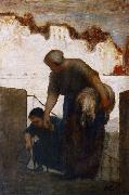 The Washerwoman, Honore  Daumier