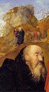 Sts Anthony and Thomas with Tommaso Portinari, Hugo van der Goes