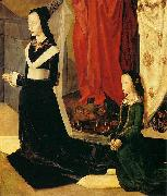 Hugo van der Goes Sts Margaret and Mary Magdalene with Maria Portinari oil painting reproduction