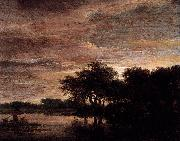 Woodland Scene with Lake