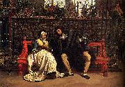 James Joseph Jacques Tissot Faust and Marguerite in the Garden oil painting