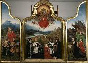Triptych with the last judgment and donors