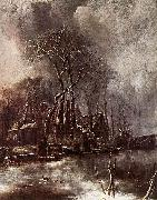 Jan van de Cappelle Winter Landscape oil painting reproduction