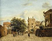 View of a Small Town Square, Jan van der Heyden