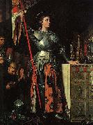 Joan of Arc at the Coronation of Charles VII. Oil on canvas, painted in 1854, Jean Auguste Dominique Ingres