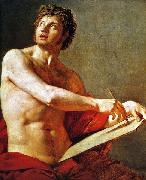 Academic Study of a Male Torse., Jean Auguste Dominique Ingres
