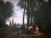 Jean-Baptiste Camille Corot Le concert champetre oil painting reproduction
