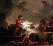 The Adoration of the Shepherds., Jean-Honore Fragonard
