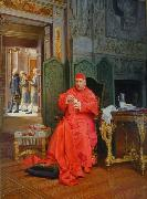 Jehan Georges Vibert The Diet oil painting