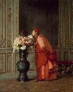 Jehan Georges Vibert An Embarrassment of Choices, or A Difficult Choice oil painting