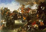 Johann Peter Krafft Zrenyis Charge from the Fortress of Szigetvar oil painting reproduction