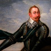 Johann Walter Gustavus Adolphus of Sweden at the Battle of Breitenfeld oil painting reproduction