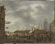 small fishmarktet at Amsterdam, Johannes Jelgerhuis