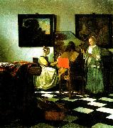 Johannes Vermeer The Concert oil painting reproduction