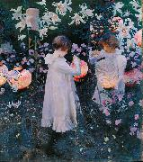 John Singer Sargent Carnation, Lily, Lily, Rose oil painting reproduction