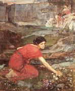 Maidens picking Flowers by a Stream, John William Waterhouse