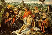 Joos van cleve Altarpiece of the Lamentation oil painting on canvas