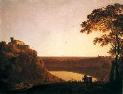 Lake Nemi at Sunset, Joseph wright of derby