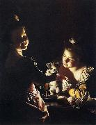 Joseph Wright of Derby. Two Girls Dressing a Kitten, Joseph wright of derby