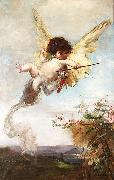 Julius Kronberg Cupid with a Bow oil painting reproduction