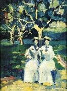 Kazimir Malevich Two Women in a Gardenr oil painting reproduction