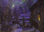 Moonlit Night. Winter, Konstantin Alekseevich Korovin
