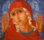 Kuzma Sergeevich Petrov-Vodkin The Mother of God of Tenderness toward Evil Hearts oil painting