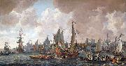 Lieve Verschuier The arrival of King Charles II of England in Rotterdam, 24 May 1660. oil painting artist