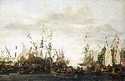Lieve Verschuier The keelhauling, according to tradition, of the ship's doctor of Admiral Jan van Nes oil painting artist