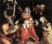 Mystic Marriage of St Catherine, Lorenzo Lotto