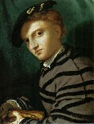 Portrait of a Young Man With a Book, Lorenzo Lotto