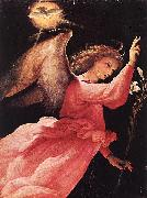 Angel Annunciating, Lorenzo Lotto