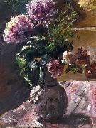 Chrysanthemums and Roses in a, Lovis Corinth