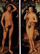 Lucas Cranach the Younger Adam and Eve oil painting reproduction