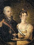 Manuel Dias de Oliveira Portrait of John VI of Portugal and Charlotte of Spain oil painting on canvas