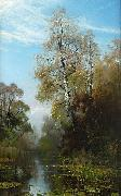 Mauritz Lindstrom Lake Scene in Autumn oil painting on canvas