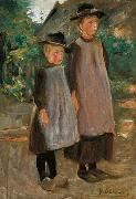 Max Liebermann Zwei hollandische Kinder oil painting reproduction