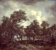 Meindert Hobbema Hut among Trees oil painting reproduction