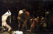 Michiel Sweerts Wrestling match oil painting reproduction