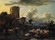 Evening Landscape, Nicolaes Pietersz. Berchem