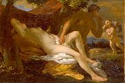 Nicolas Poussin Jupiter and Antiope or Venus and Satyr oil painting reproduction