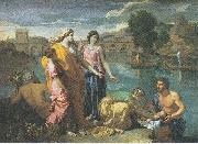 Nicolas Poussin The Finding of Moses oil painting reproduction