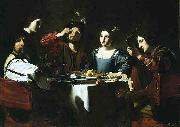 Nicolas Tournier Banquet Scene with a Lute Player oil painting