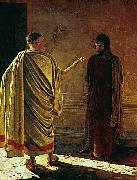 Nikolaj Nikolajewitsch Ge What is truth, Christ and Pilate oil painting
