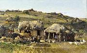 Nikolay Nikanorovich Dubovskoy In The Village oil painting reproduction