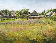 Nikolay Nikanorovich Dubovskoy Rural landscape oil painting reproduction