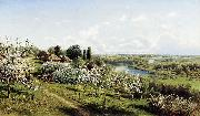 Nikolay Sergeyev Apple blossom. In Little Russia oil painting