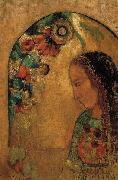 Lady of the Flowers, Odilon Redon