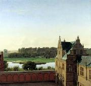P.C. Skovgaard View from Frederiksborg Castle oil painting on canvas