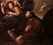 Pasquale Ottino Saint Francis and the Angel oil painting